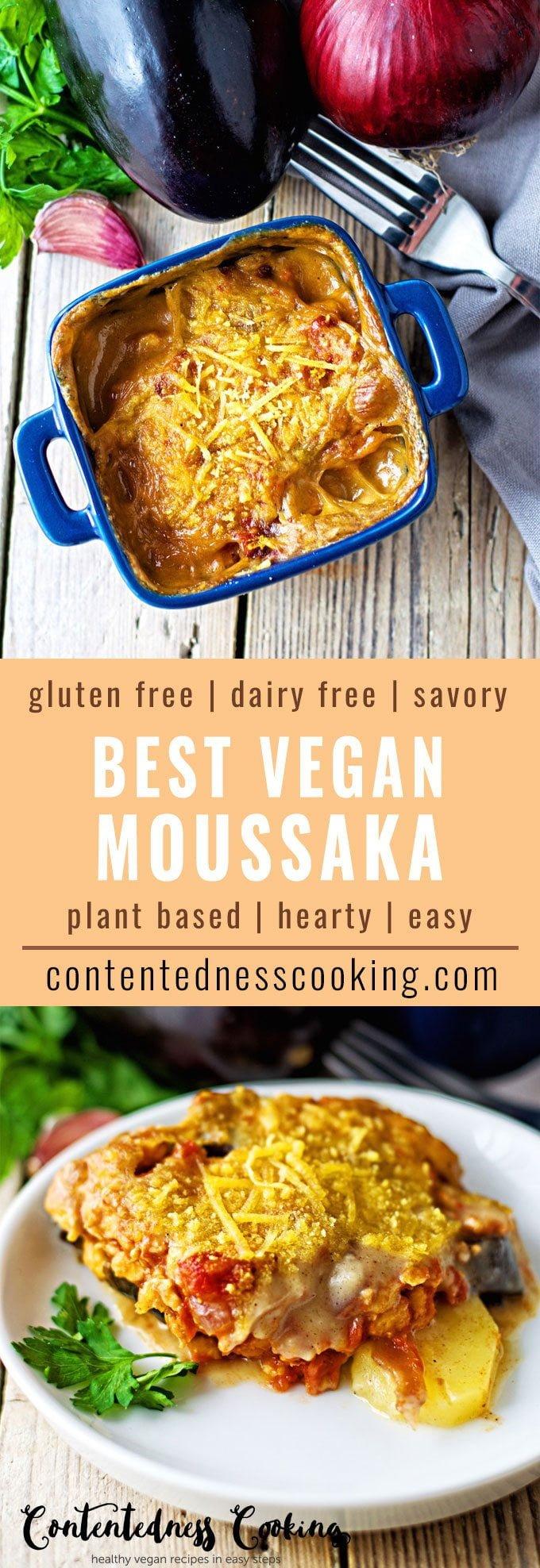 Best Vegan Moussaka   #vegan #glutenfree #contentednesscooking #plantbased #dairyfree