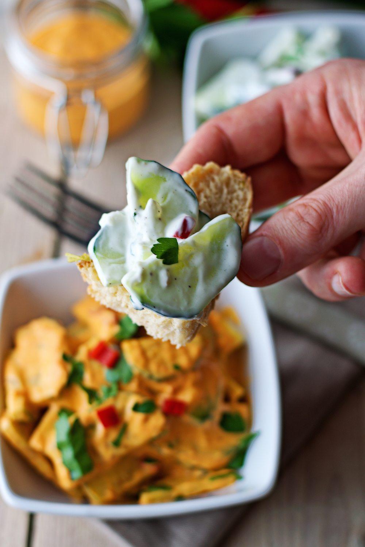 Cucumber Salad 2 Ways #vegan #glutenfree www.contentednesscooking.com