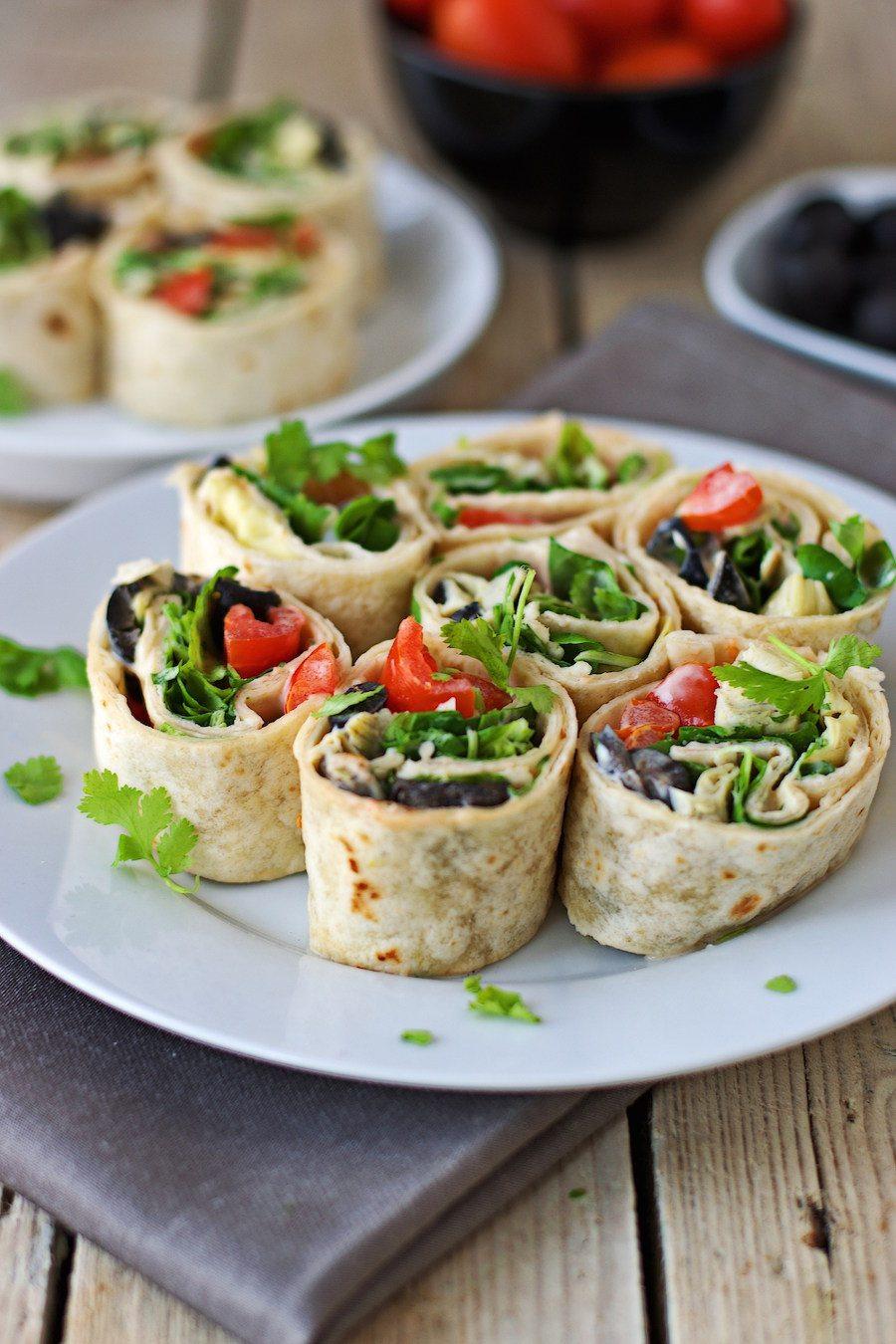 Mediterranean Pinwheels #vegan #glutenfree www.contentednesscooking.com