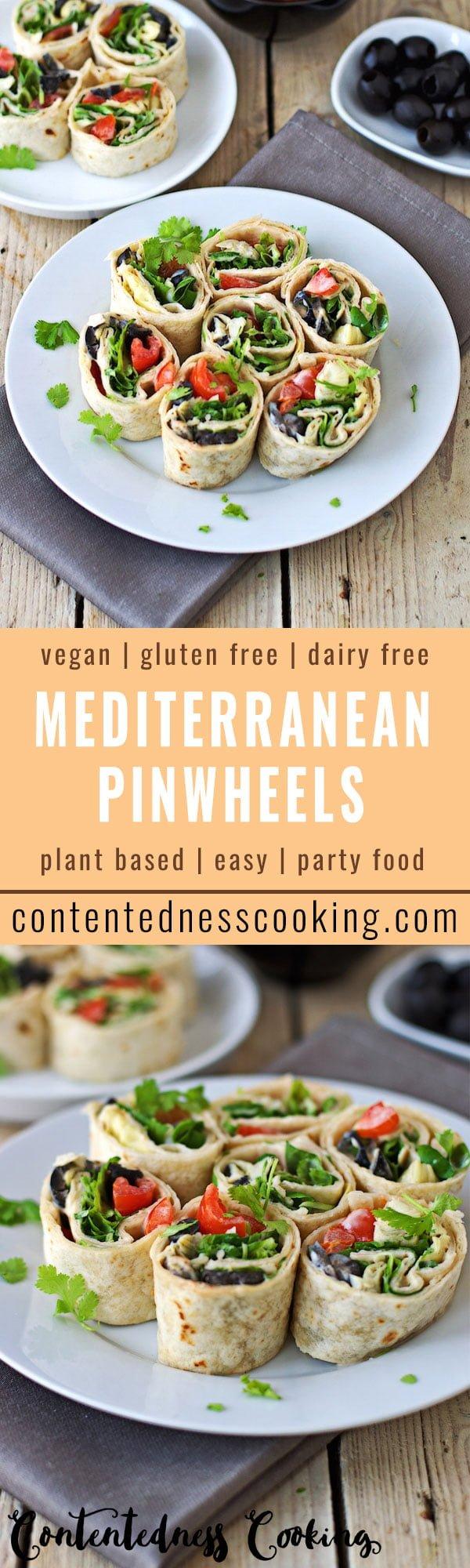 Mediterranean Pinwheels | #vegan #glutenfree #contentednesscooking