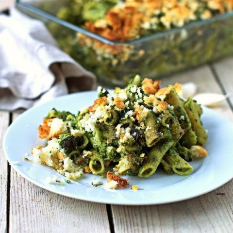 kale pasta casserole #vegan #glutenfree www.contentednesscooking.com
