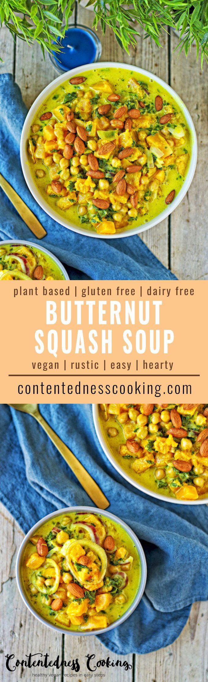 Butternut Squash Soup | #vegan #glutenfree #contentednesscooking #plantbased #dairyfree
