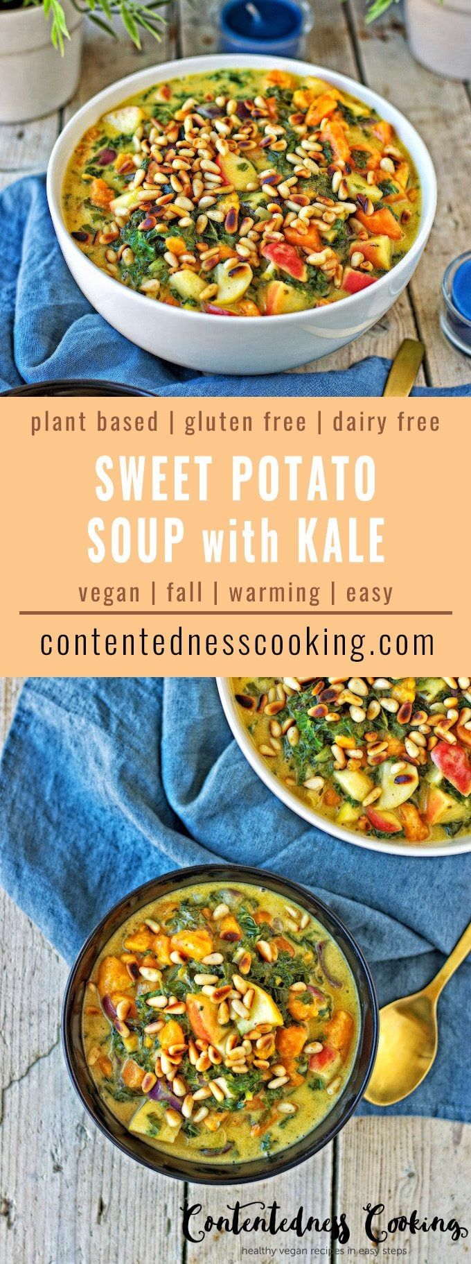 Vegan Sweet Potato Soup with Kale