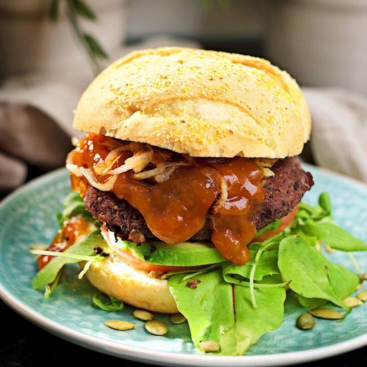 Vegan Black Bean Burger | #vegan #glutenfree www.contentednesscooking.com