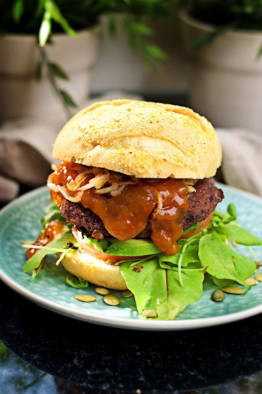 Vegan Black Bean Burger | #vegan #glutenfree www.contentednesscooking.com