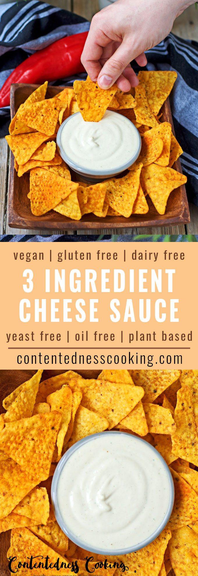 Vegan Cheese Sauce   #vegan #glutenfree #contentednesscooking #plantbased #dairyfree