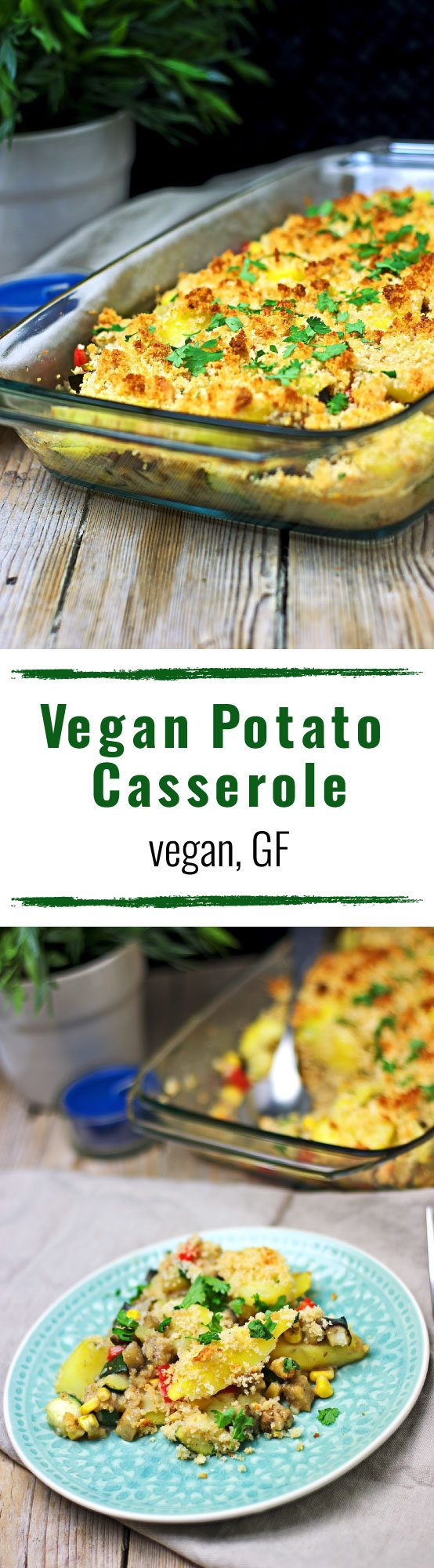 Vegan Potato Casserole | #vegan #glutenfree #contentednesscooking