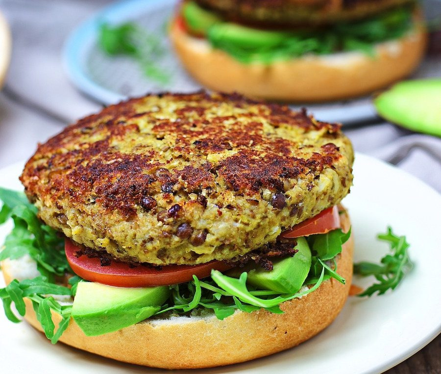 Veggie Burger with Cauliflower #vegan #glutenfree www.contentednesscooking.com