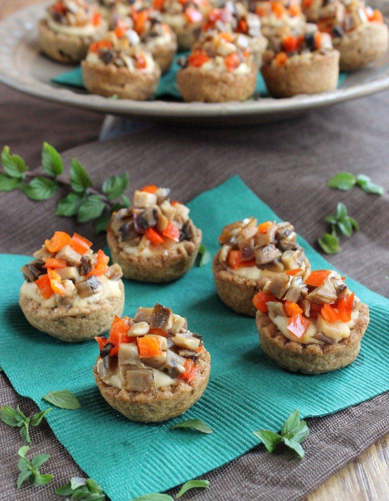 Make Ahead Vegan Cookbook: Garlic Hummus Stuffed Mini Cups
