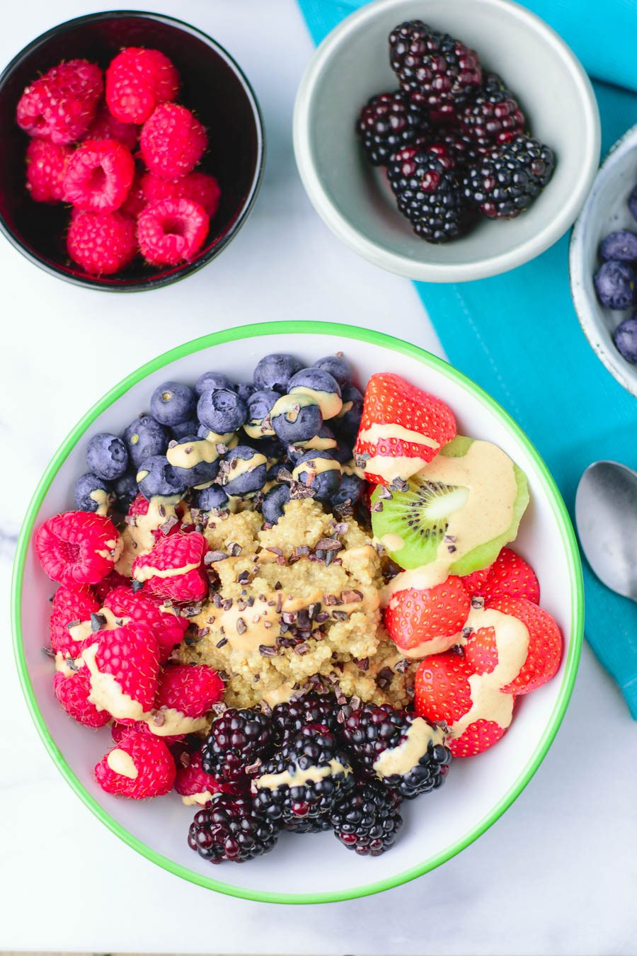 Everyday Quinoa Breakfast Bowl | #vegan #glutenfree www.contentednesscooking.com