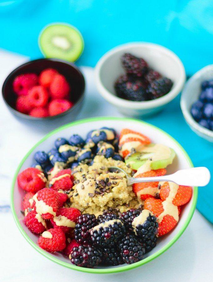 Everyday Quinoa Breakfast Bowl   #vegan #glutenfree www.contentednesscooking.com