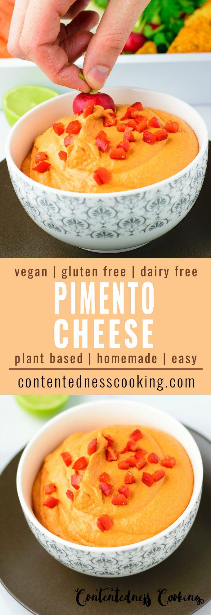 Easy Vegan Pimento Cheese   #vegan #glutenfree #contentednesscooking #plantbased #dairyfree