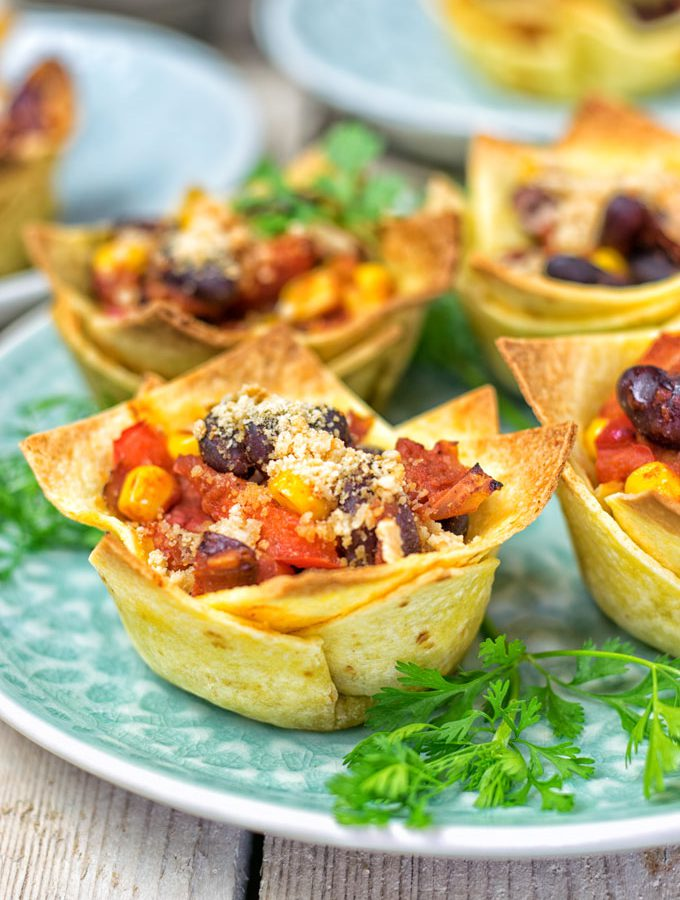 Easy Vegan Taco Cups