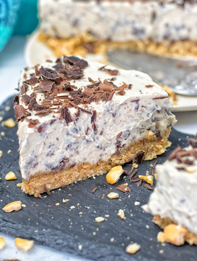 Stracciatella Cream Pie (vegan, gf, no bake)