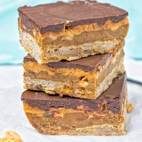 Vegan Snickers Bars | #vegan #glutenfree www.contentednesscooking.com
