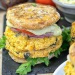 Mediterranean Vegan Burger | #vegan #glutenfree www.contentednesscooking.com