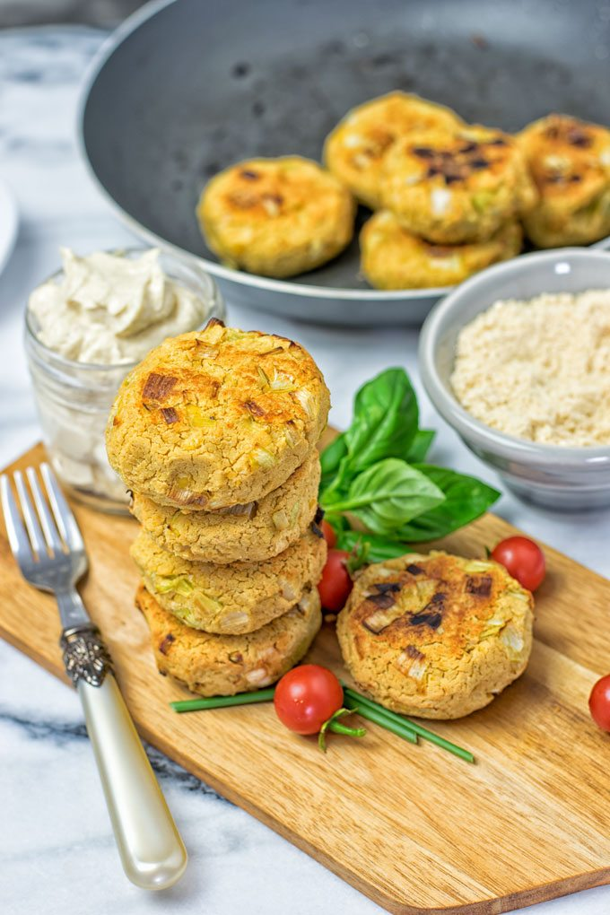 Roasted Garlic Vegan Cheese Fritters | #vegan #glutenfree www.contentednesscooking.com