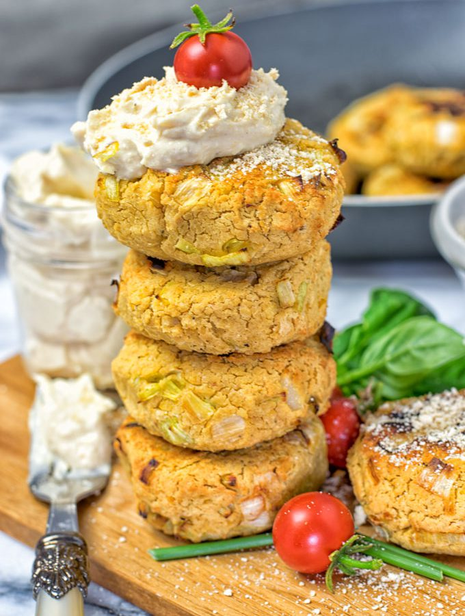 Roasted Garlic Vegan Cheese Fritters | #vegan #glutenfree www.contentednesscooking.com
