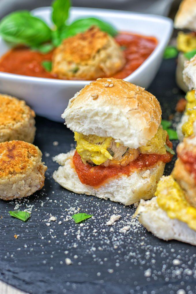 Marinara Meatball Subs | #vegan #glutenfree www.contentednesscooking.com