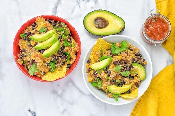 Quinoa Taco Salad | #vegan #glutenfree #contentednesscooking