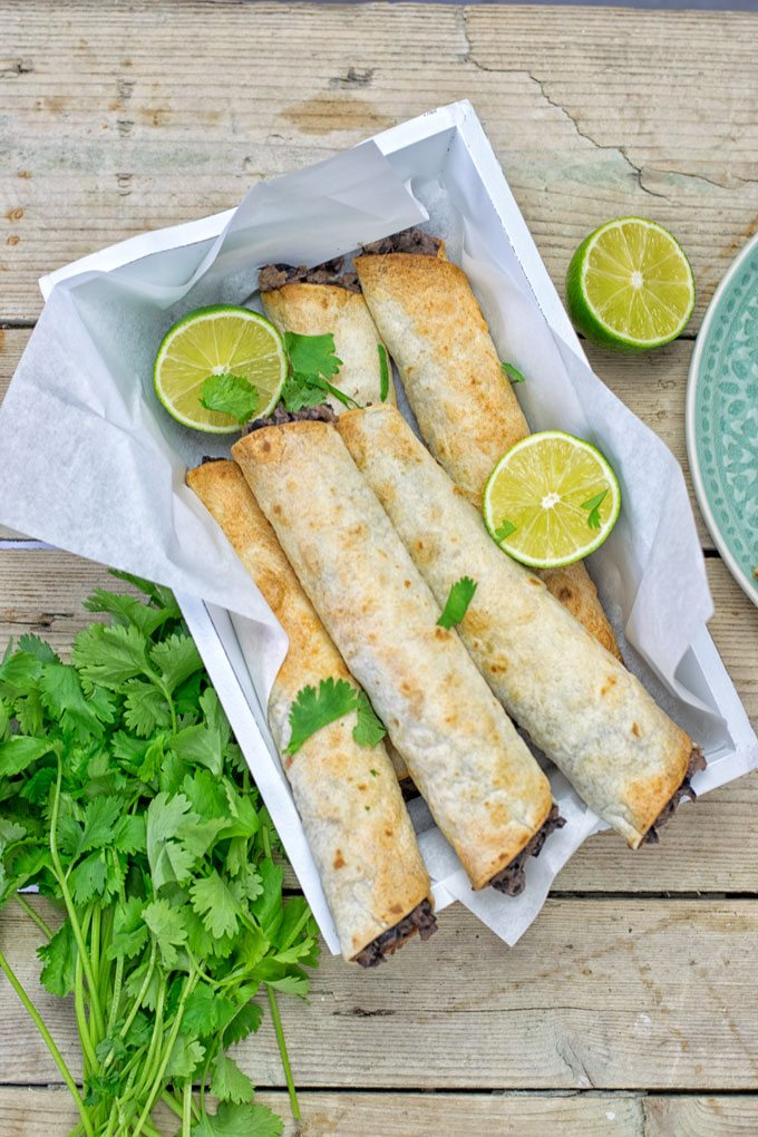 Vegan Cream Cheese Taquitos.