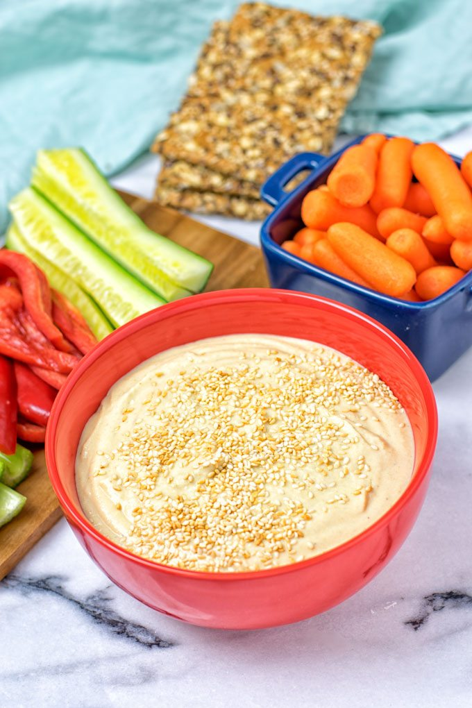30 Seconds Best Hummus Recipe | #vegan #glutenfree www.contentednesscooking.com