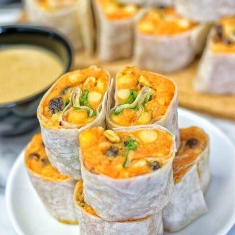 Thai Green Curry Samosa Pinwheels   #vegan #glutenfree www.contentednesscooking.com