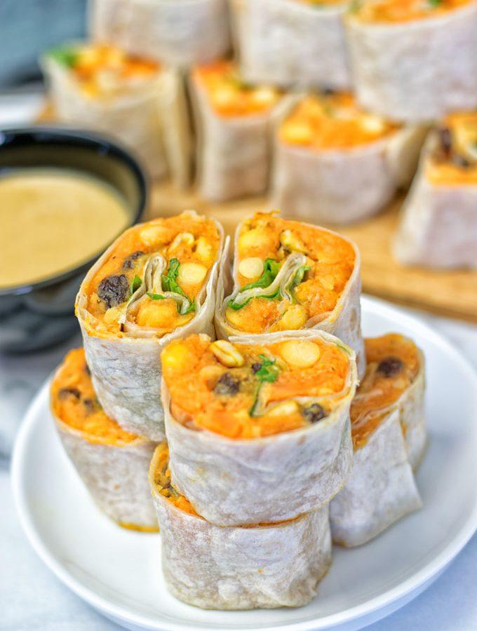 Thai Green Curry Samosa Pinwheels