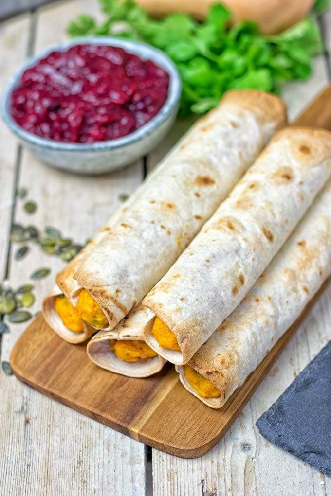 Pumpkin Vegan Cream Cheese Taquitos | #vegan #glutenfree www.contentednesscooking.com