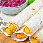 Pumpkin Vegan Cream Cheese Taquitos | #vegan #glutenfree www.contentednesscooking.com