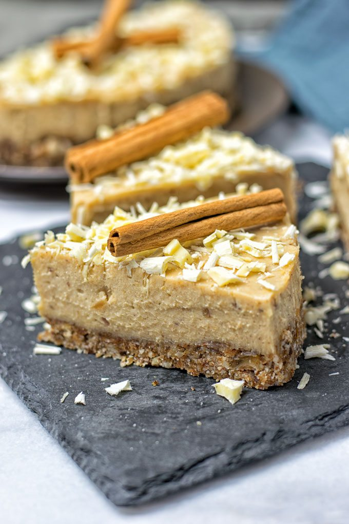 Cinnamon White Chocolate Cheesecake.