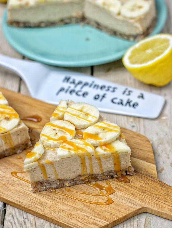 Lemon Banana Cream Pie | #vegan #glutenfree #contentednesscooking