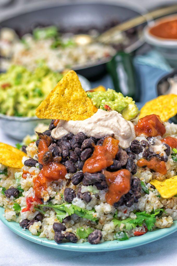 Mexican Fiesta Cauliflower Rice | #vegan #glutenfree #contentednesscooking