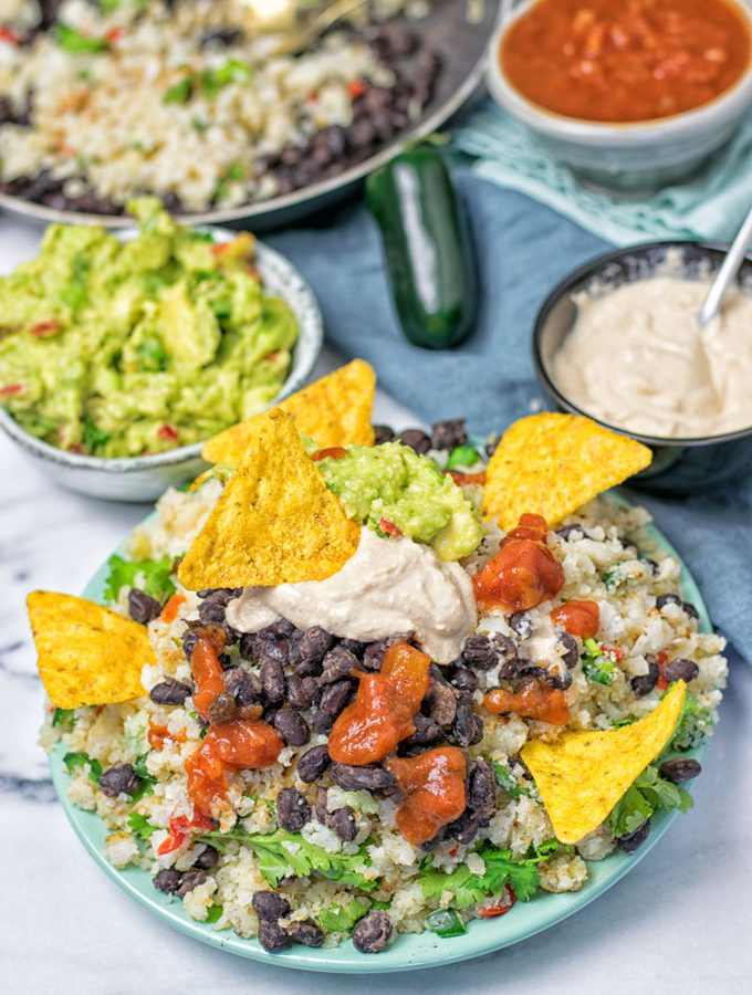 Mexican Fiesta Cauliflower Rice | #vegan #glutenfree #contentednesscooking