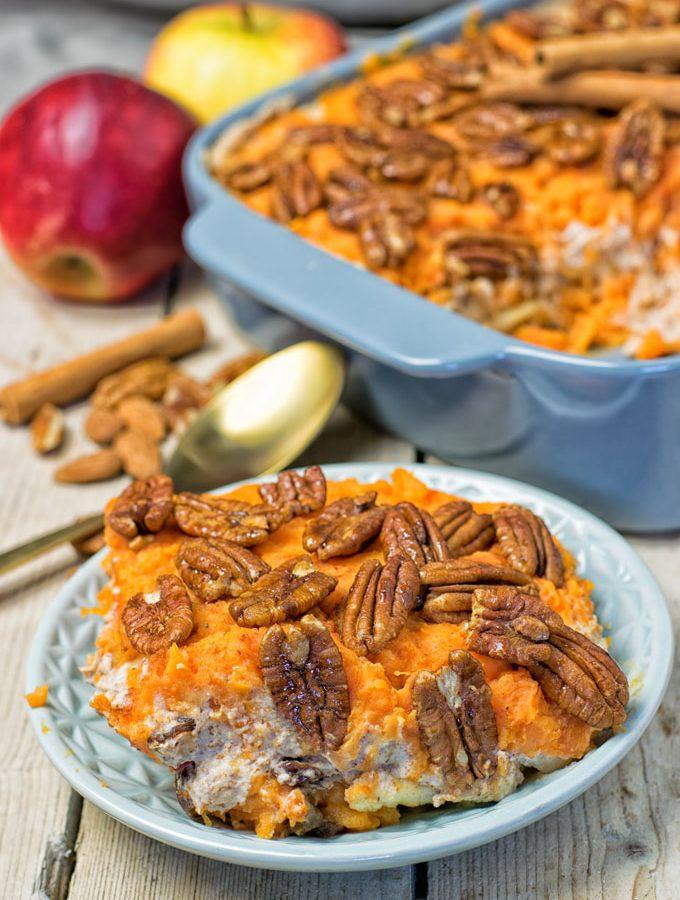 Sweet Potato Casserole | #vegan #clutenfree #contentednesscooking
