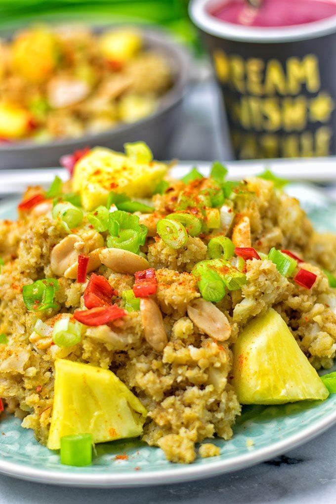 Thai Green Curry Detox Cauliflower Rice.