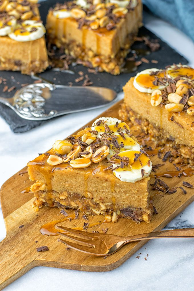 Chunky Monkey Banana Cream Pie | #vegan #glutenfree #contentednesscooking