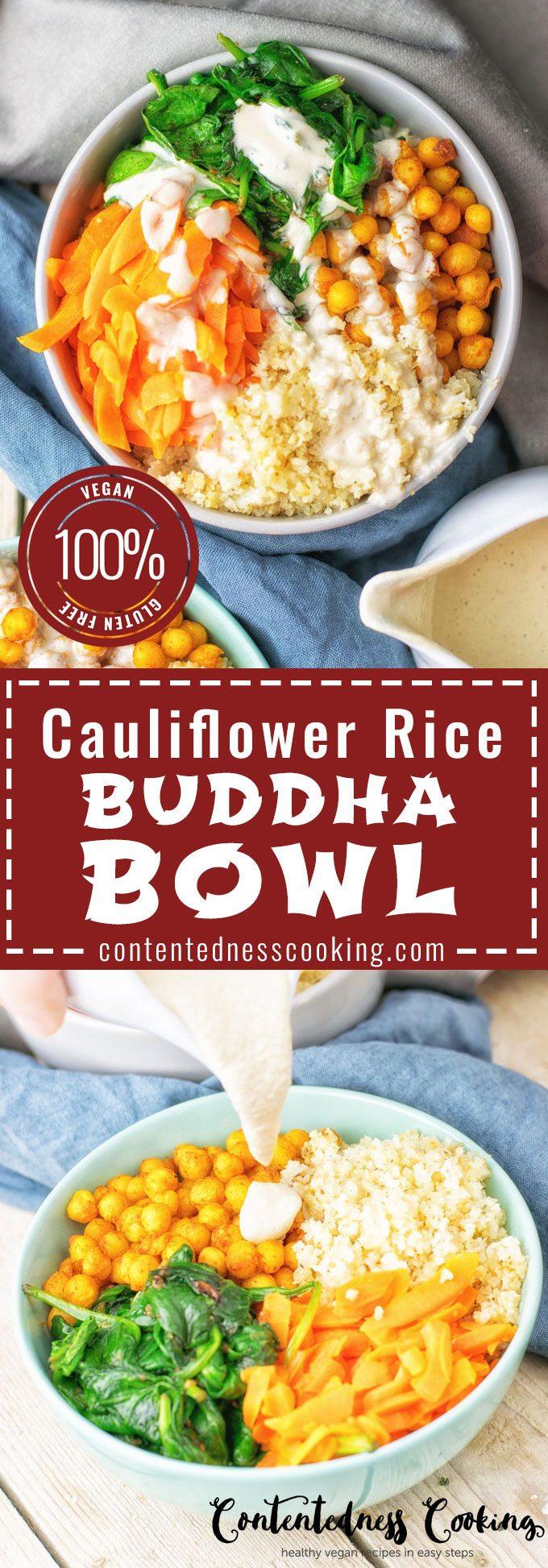 Cauliflower Rice Buddha Bowl | #vegan #glutenfree #contentednesscooking