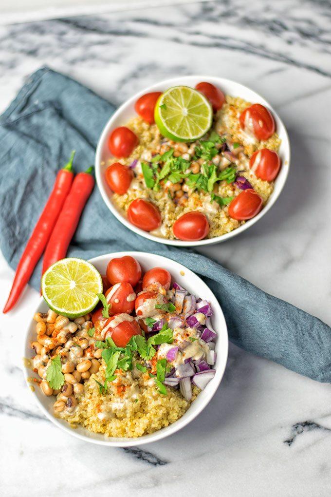 Mexican Fiesta Quinoa Salad | #vegan #glutenfree #contentednesscooking