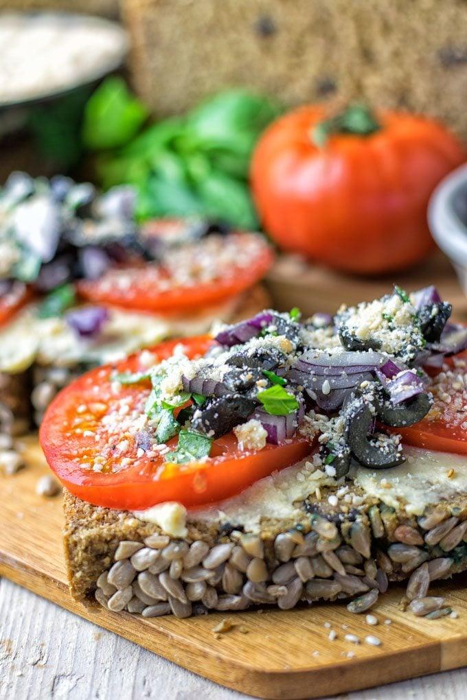 Olive Chickpea Flour Bread | #vegan #glutenfree #contentednesscooking