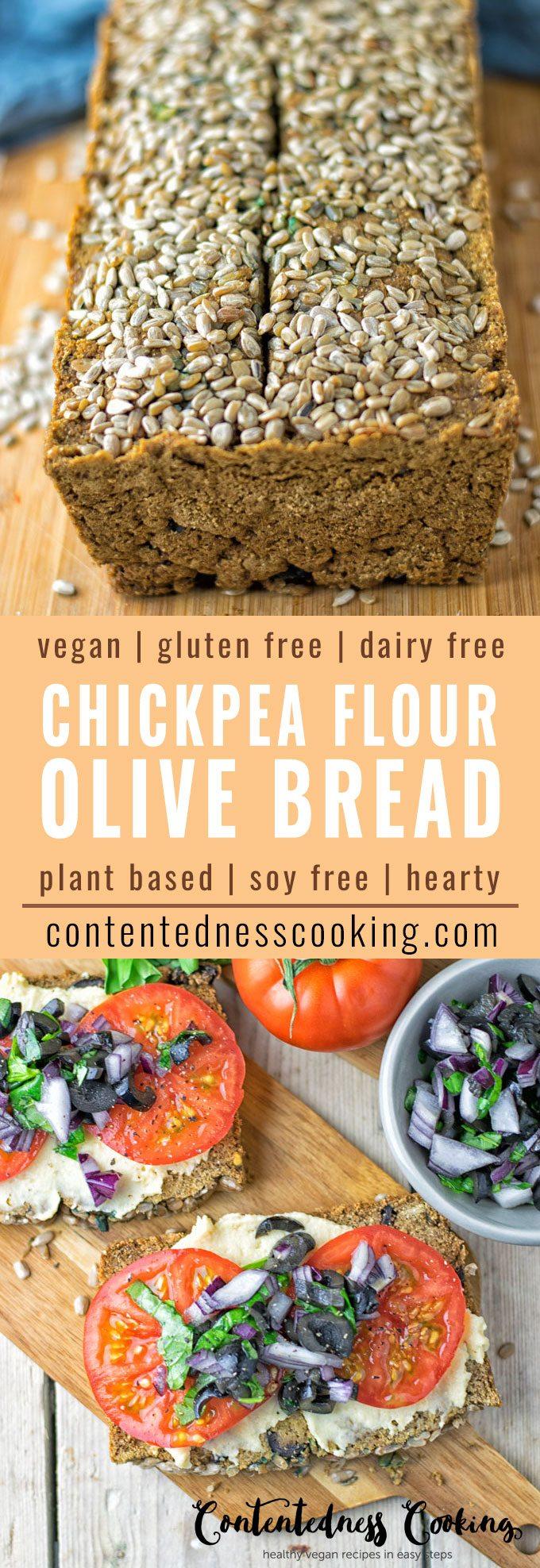 Olive Chickpea Flour Bread | #vegan #glutenfree #contentednesscooking #plantbased #soyfree #dairyfree