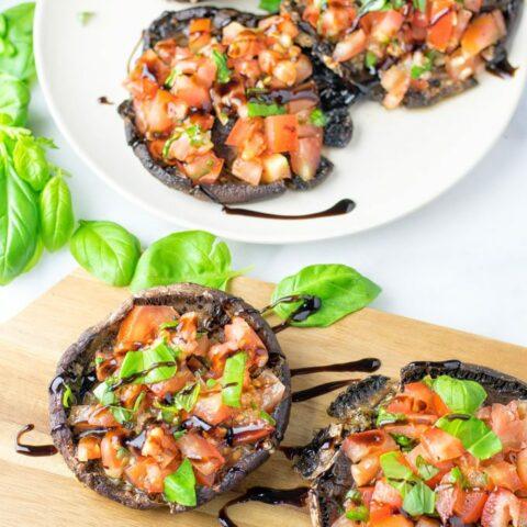 Portobello Mushroom Bruschetta | #vegan #glutenfree #contentednesscooking
