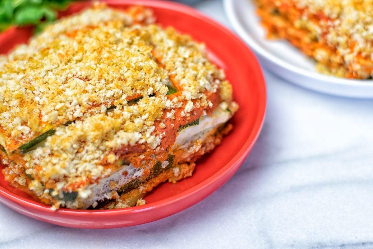 Vegan Ricotta Zucchini Casserole.