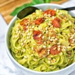 Avocado Pesto Pasta Sauce | #vegan #glutenfree #contentednesscooking #plantbased #dairyfree #soyfree