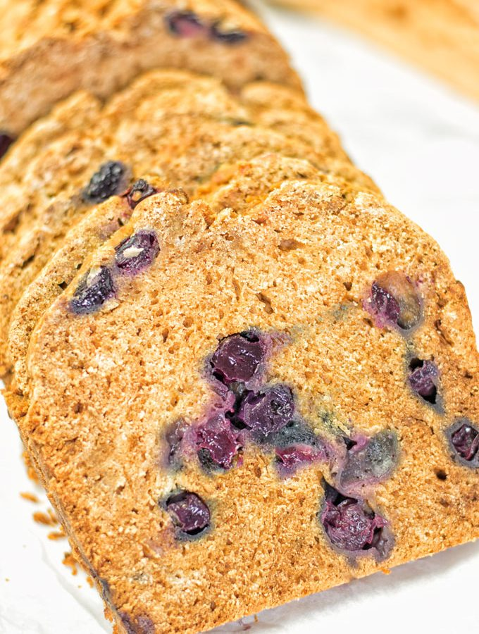 Gluten-Free Blueberry Bread | #vegan #glutenfree #contentednesscooking #plantbased #dairyfree #soyfree