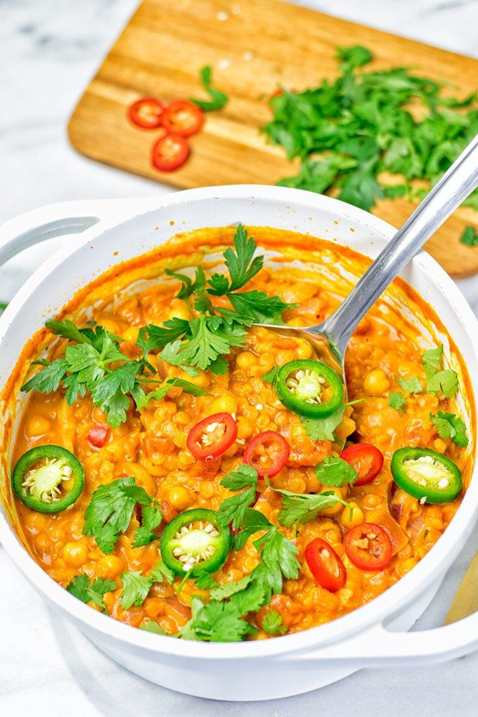 Moroccan Chickpea Lentil Soup Harira | #vegan #glutenfree #contentednesscooking #plantbased #dairyfree #soyfree