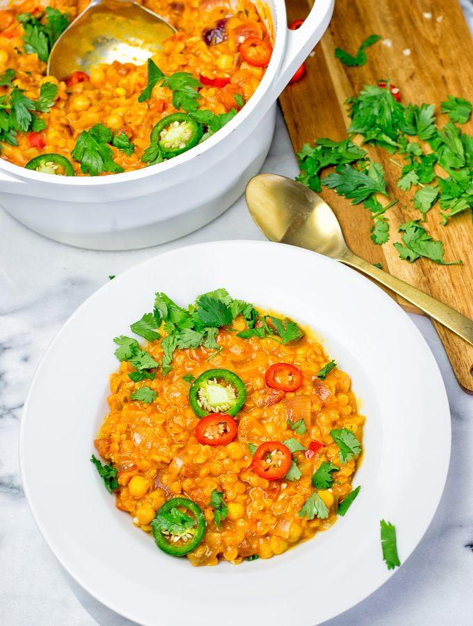 Moroccan Chickpea Lentil Soup (Harira)