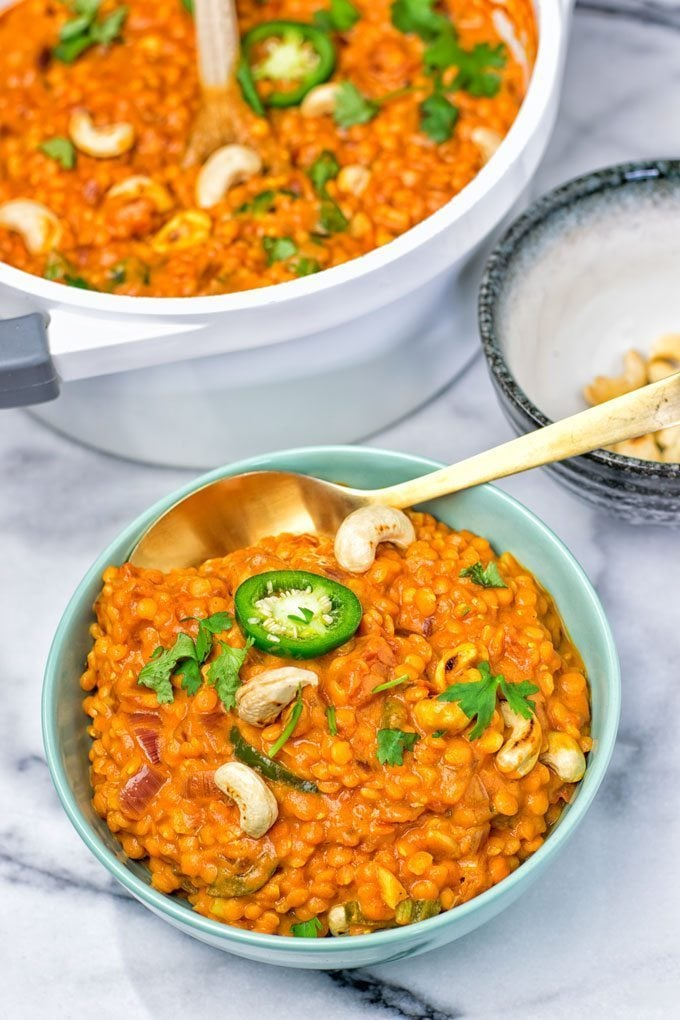 One Pot Red Lentil Dal | #vegan #glutenfree #contentednesscooking #plantbased #dairyfree #soyfree
