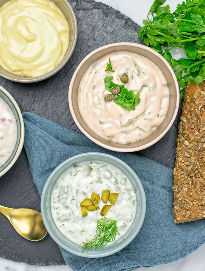 Vegan Tartar Sauce Four Ways