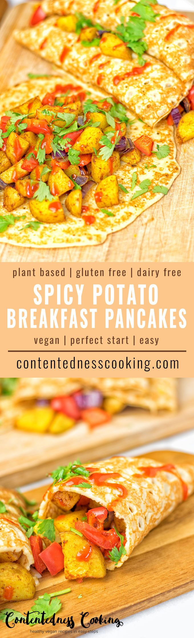 Spicy Potato Breakfast Pancakes | #vegan #glutenfree #contentednesscooking #plantbased #dairyfree